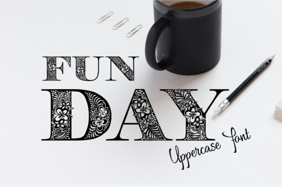 Print on Demand: Funday Decorative Font By Eva Barabasne Olasz - Image 1