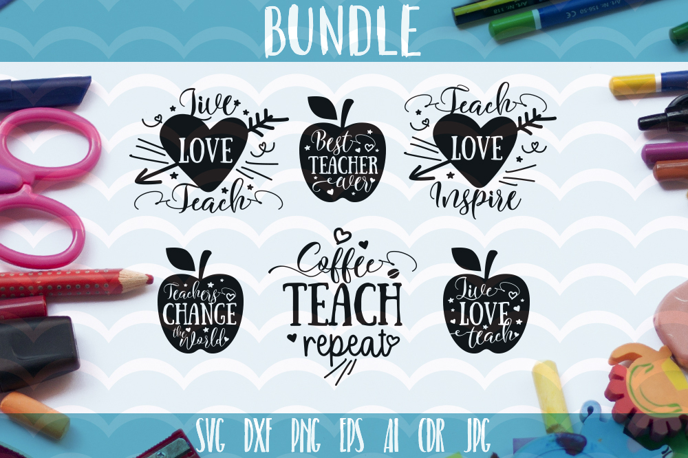 Download Free Funny Teachers Quotes Svg 6 Designs Graphic By Vector City for Cricut Explore, Silhouette and other cutting machines.
