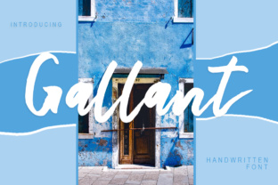 Print on Demand: Gallant Script & Handwritten Font By bandithandmade17