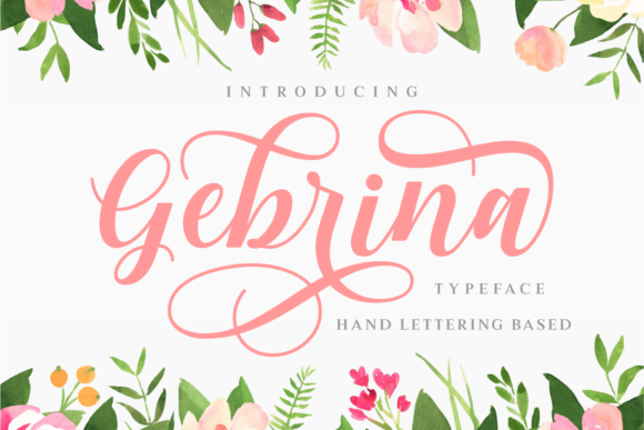 Print on Demand: Gebrina Script & Handwritten Font By Keithzo (7NTypes) - Image 1