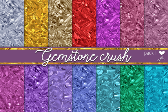 Print on Demand: Gemstone Crush (Pack 1) Graphic Textures By JulieCampbellDesigns