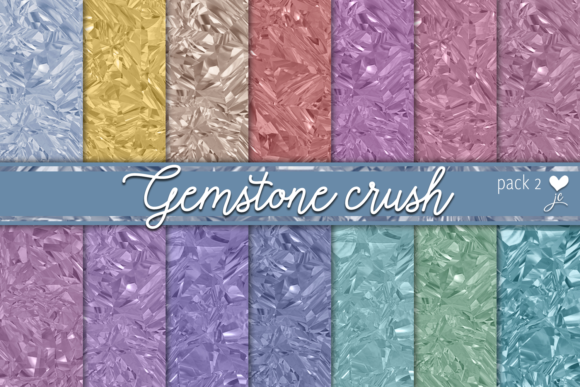 Print on Demand: Gemstone Crush (Pack 2) Graphic Textures By JulieCampbellDesigns