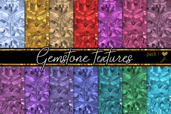Print on Demand: Gemstone Textures (Pack 1) Graphic Textures By JulieCampbellDesigns