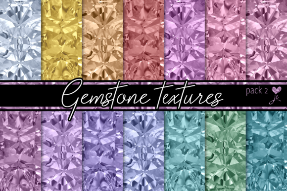 Print on Demand: Gemstone Textures (Pack 2) Graphic Textures By JulieCampbellDesigns - Image 1