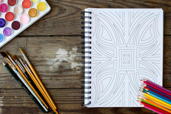 Geometric Patterns Coloring Book - 30 Coloring Pages Graphic Coloring Pages & Books Adults By ColoringBooks101 - Image 2