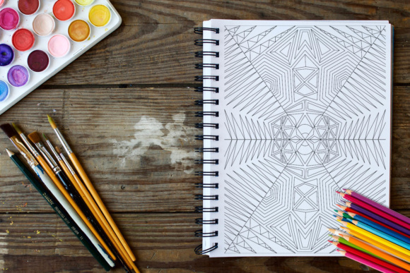 Geometric Patterns Coloring Book - 30 Coloring Pages Graphic Coloring Pages & Books Adults By ColoringBooks101 - Image 4