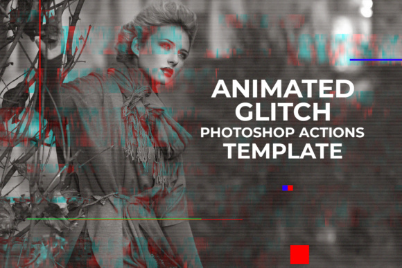 Download Free Gif Glitch Animated Photoshop Action Graphic By Creative Tacos for Cricut Explore, Silhouette and other cutting machines.
