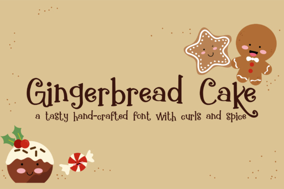 Print on Demand: Gingerbread Cake Script & Handwritten Font By Illustration Ink