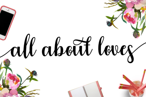 Download Free Girly Love Font By Letterfreshstudio Creative Fabrica for Cricut Explore, Silhouette and other cutting machines.