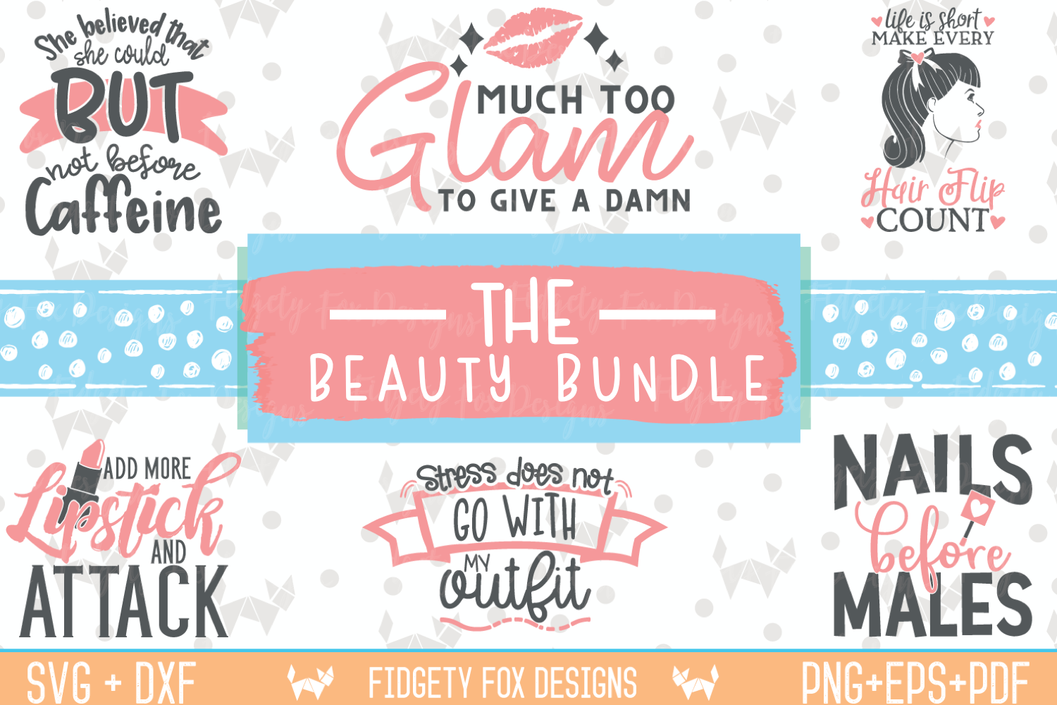 Download Free Glam Beauty Bundle Graphic By Fidgety Fox Designs Creative Fabrica for Cricut Explore, Silhouette and other cutting machines.