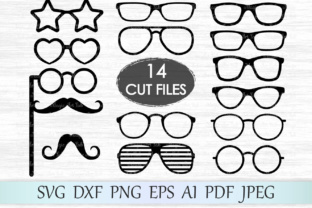 Download Free Glasses Graphic By Magicartlab Creative Fabrica for Cricut Explore, Silhouette and other cutting machines.