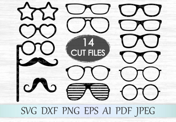 Download Free Glasses Grafico Por Magicartlab Creative Fabrica for Cricut Explore, Silhouette and other cutting machines.