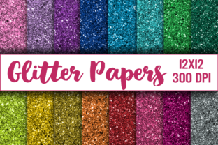 Glitter Digital Paper, Texture, Scrapbook Paper, Printable Graphic Textures By digitalistdesigns
