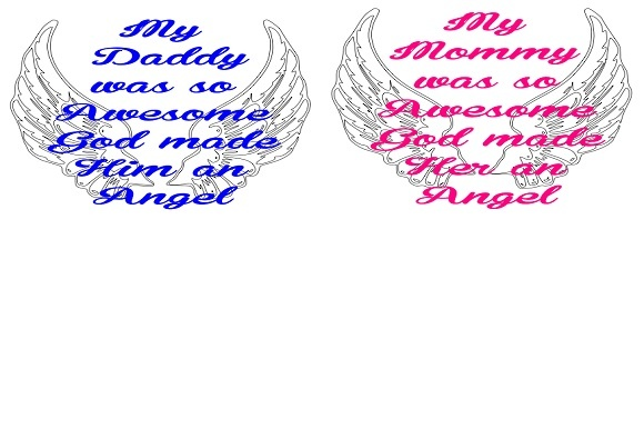God Made an Angel Graphic Crafts By Family Creations