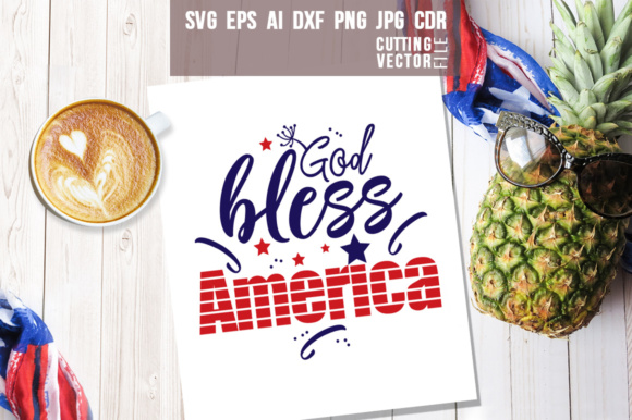 God Bless America Graphic Crafts By danieladoychinovashop