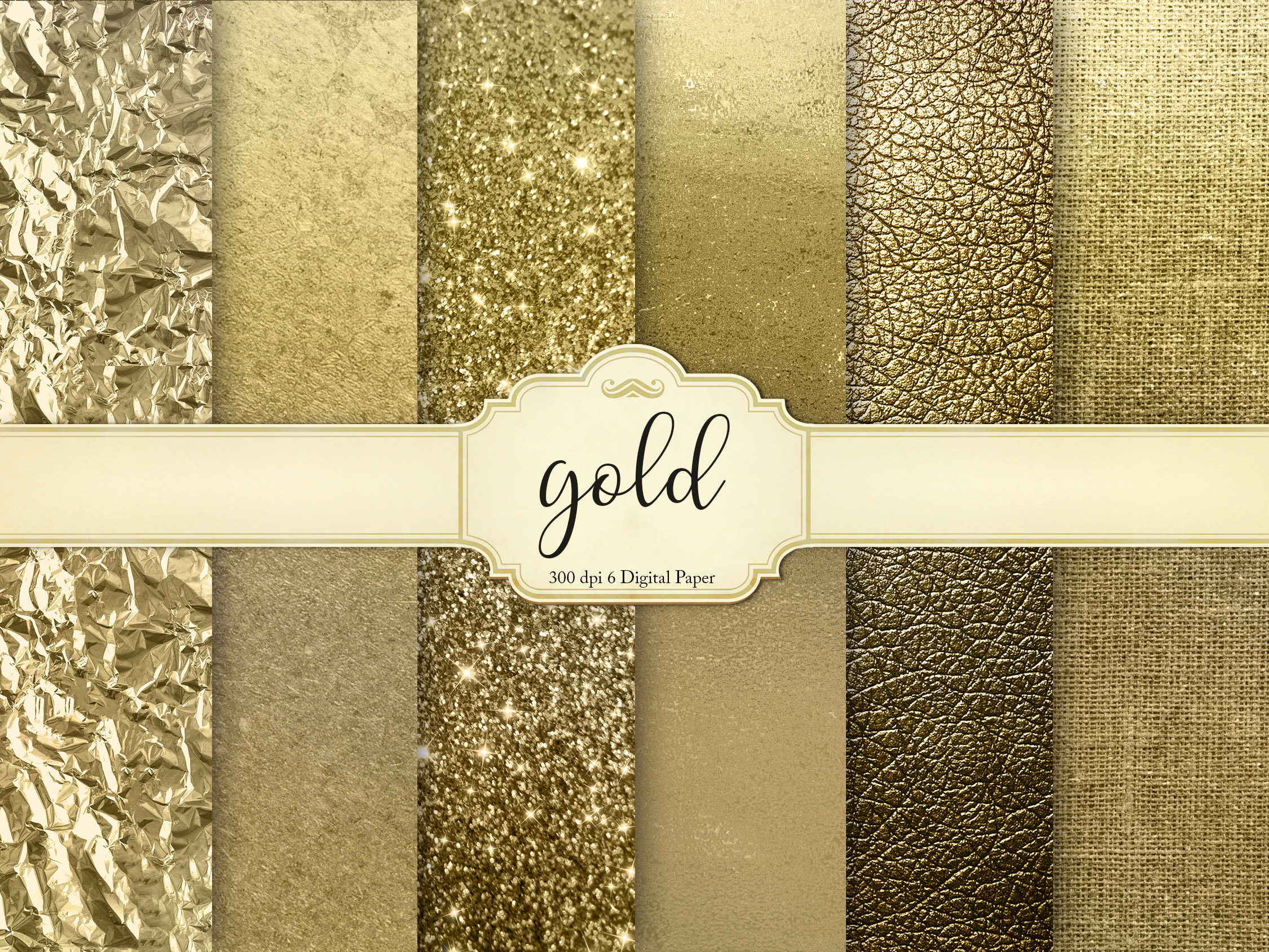 Download Free Gold Digital Paper Graphic By Creative Paper Creative Fabrica for Cricut Explore, Silhouette and other cutting machines.