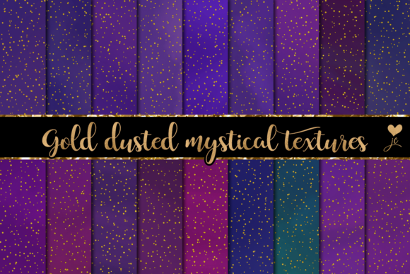 Print on Demand: Gold Dusted Mystical Textures Graphic Textures By JulieCampbellDesigns
