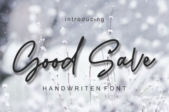 Print on Demand: Good Save Script & Handwritten Font By screen letter
