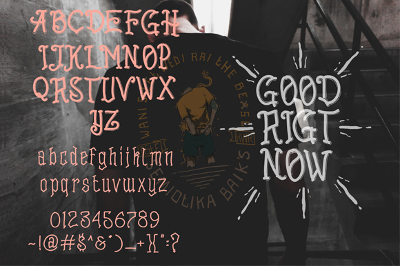 Print on Demand: Goodright Display Font By brnk1314 - Image 2
