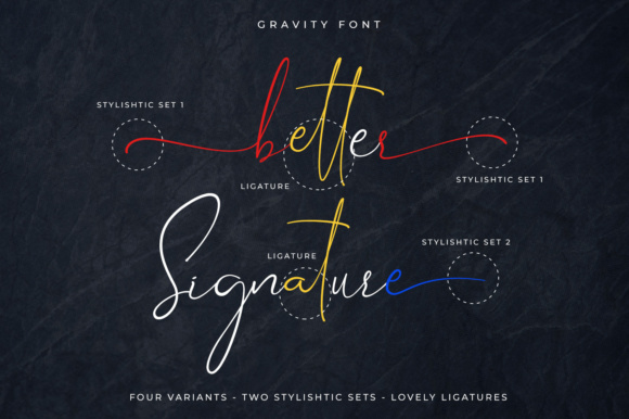 Print on Demand: Gravity Script & Handwritten Font By Din Studio - Image 2