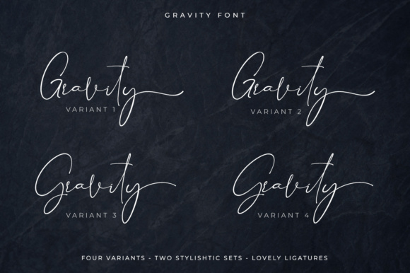 Print on Demand: Gravity Script & Handwritten Font By Din Studio - Image 6