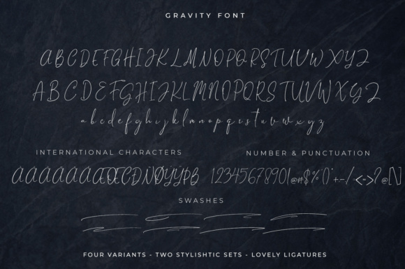 Print on Demand: Gravity Script & Handwritten Font By Din Studio - Image 7