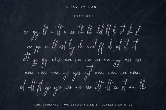 Print on Demand: Gravity Script & Handwritten Font By Din Studio - Image 8