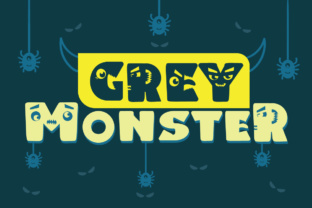 Print on Demand: Grey Monster Display Font By Lickable Pixels 1