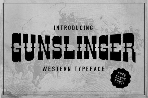 Print on Demand: Gunslinger Slab Serif Font By VonTypeCo