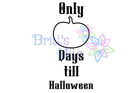 Download Free Halloween Countdown Graphic By Britt S Hits Creative Fabrica for Cricut Explore, Silhouette and other cutting machines.