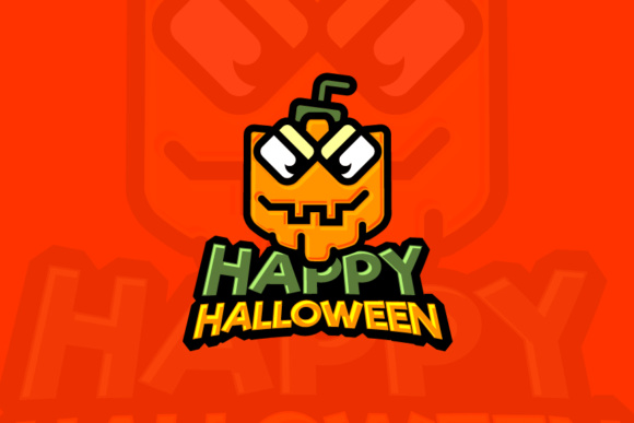 Halloween Pumpkin Logo Graphic Graphic Templates By KitCreativeStudio - Image 1