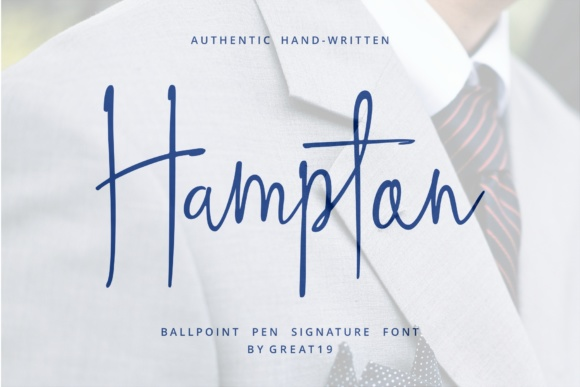 Print on Demand: Hampton Script & Handwritten Font By great19