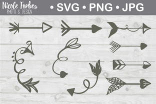 Download Free Hand Drawn Arrow Bundle Graphic By Nicole Forbes Designs for Cricut Explore, Silhouette and other cutting machines.