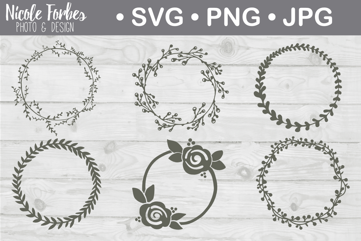 Download Free Hand Drawn Wreath Svg Cut File Graphic By Nicole Forbes Designs for Cricut Explore, Silhouette and other cutting machines.