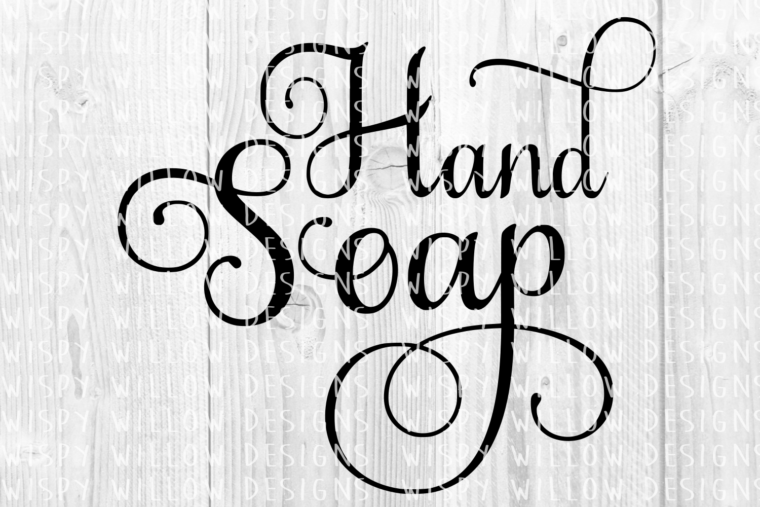 Download Free Hand Soap Elegant Scroll Label Cut File Grafik Von for Cricut Explore, Silhouette and other cutting machines.