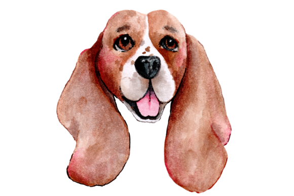 Hand Painted Watercolor Dogs Graphic Illustrations By Jen Digital Art - Image 2