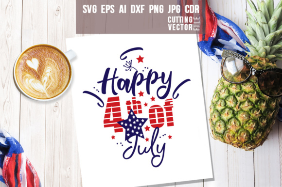 Happy 4th of July Graphic Crafts By danieladoychinovashop