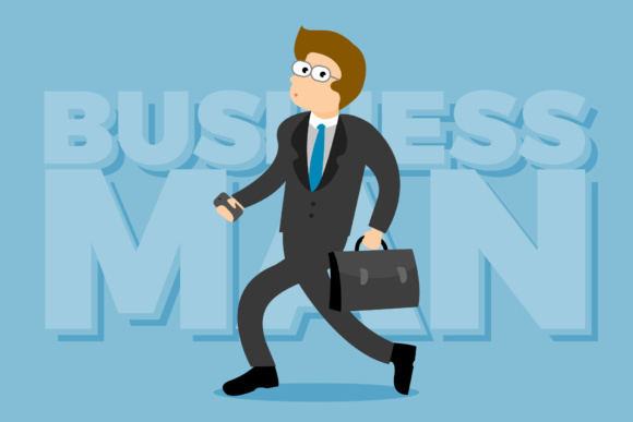 Happy Business Men Graphic By KitCreativeStudio
