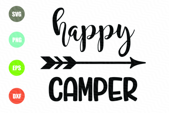 Happy Camper File Graphic Illustrations By logotrain034