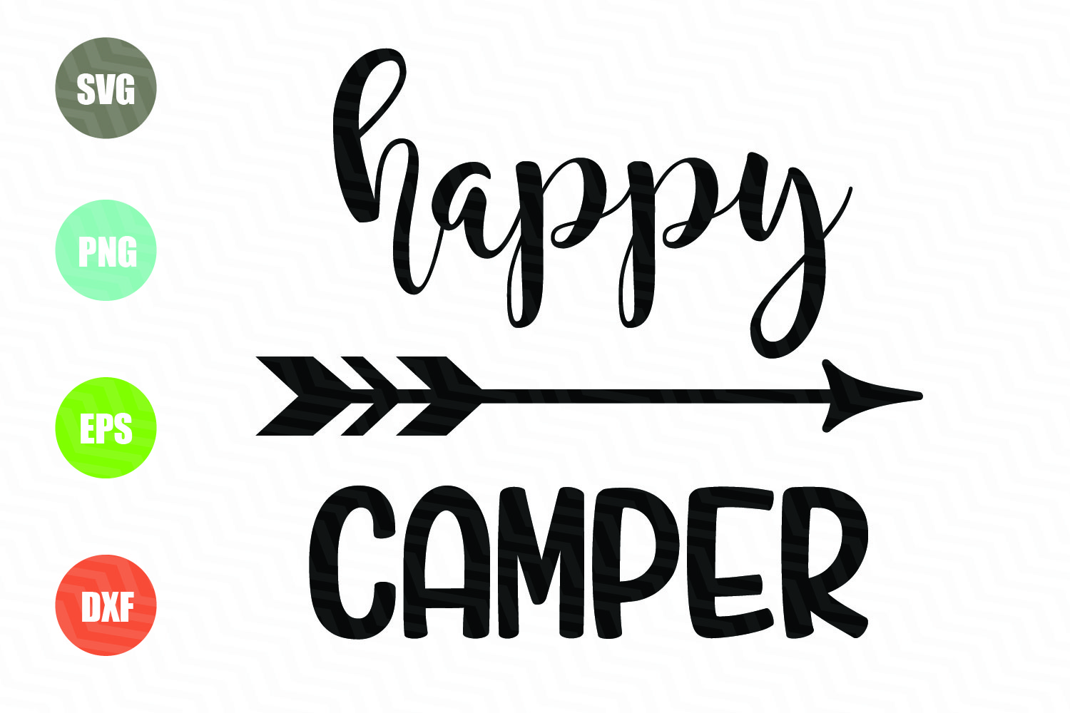Download Free Happy Camper File Graphic By Logotrain034 Creative Fabrica for Cricut Explore, Silhouette and other cutting machines.