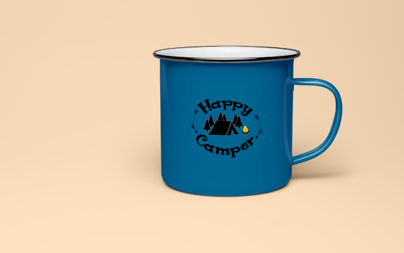 Download Free Happy Camper Vector File Cut Files Graphic By Goran Stojanovic for Cricut Explore, Silhouette and other cutting machines.