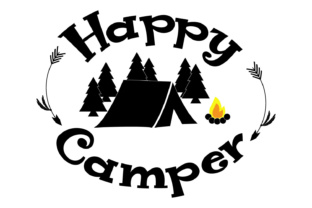Download Free Happy Camper Vector File Cut Files Grafico Por Goran Stojanovic for Cricut Explore, Silhouette and other cutting machines.