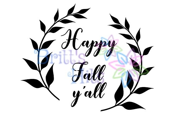 Download Free Happy Fall Y All Svg Graphic By Britt S Hits Creative Fabrica for Cricut Explore, Silhouette and other cutting machines.