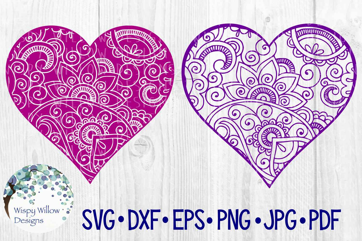 Heart Bundle Love Zentangle Valentine Cut File Graphic By