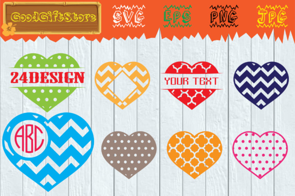 Download Free Heart Monogram Frames Svg Graphic By Piedesigner Creative Fabrica for Cricut Explore, Silhouette and other cutting machines.