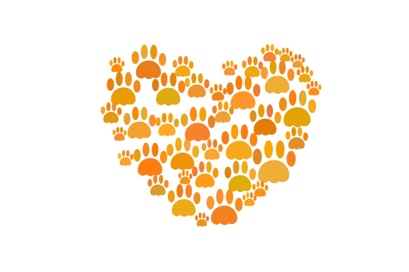Download Free Heart Made Out Of Paw Prints Design Svg Cut File By Creative for Cricut Explore, Silhouette and other cutting machines.