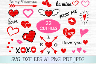 Download Free Hearts Graphic By Magicartlab Creative Fabrica for Cricut Explore, Silhouette and other cutting machines.