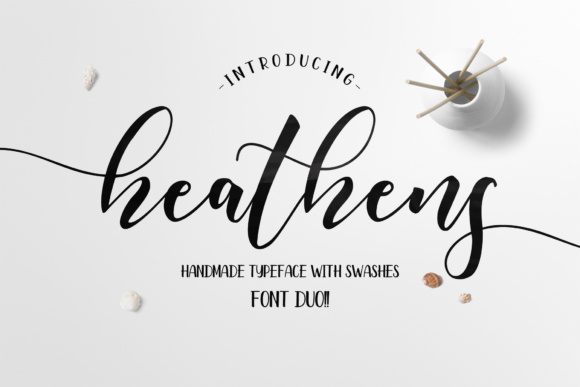 Print on Demand: Heathens Script Script & Handwritten Font By fargunstudio