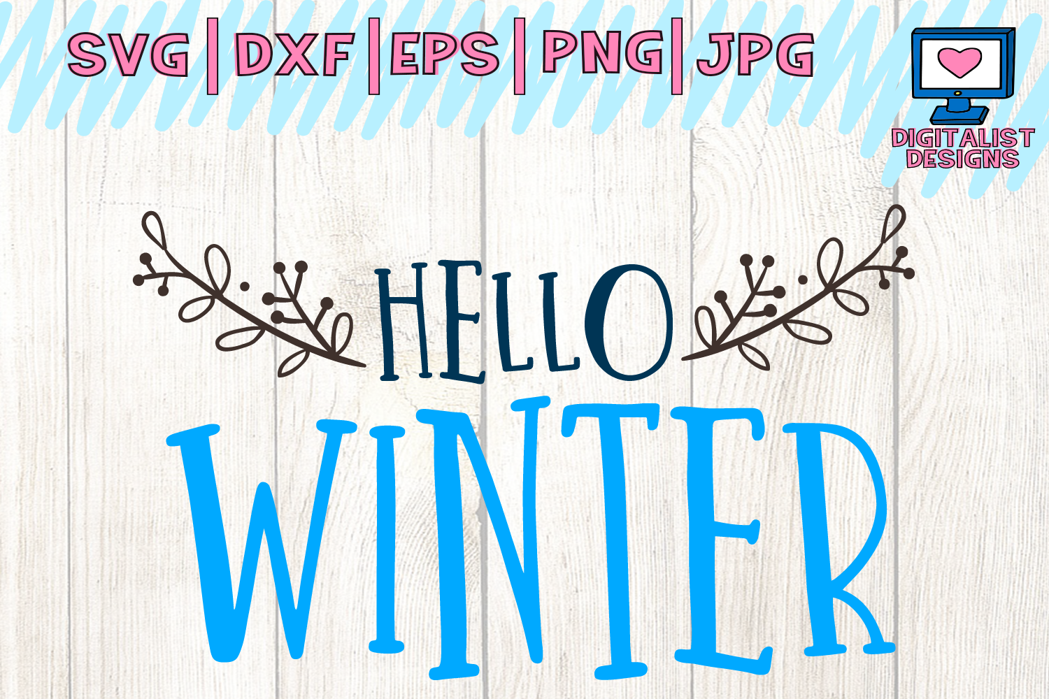 Download Free Hello Winter Christmas Winter Graphic By Digitalistdesigns for Cricut Explore, Silhouette and other cutting machines.