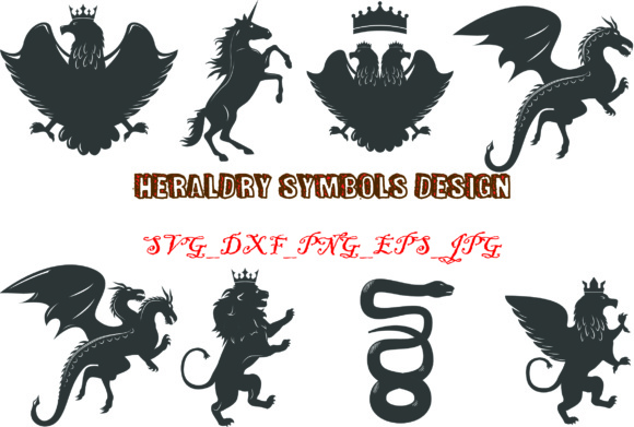 Download Free Heraldry Symbols Graphic Graphic By Best Store Creative Fabrica for Cricut Explore, Silhouette and other cutting machines.